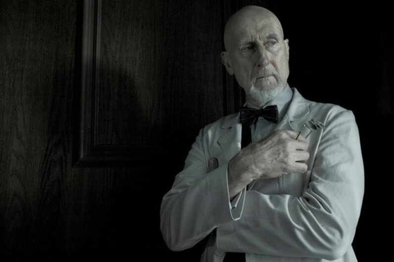"Dr. Arthur Arden of ""American Horror Story: Asylum"" was something of a mad science polymath in his time, juggling various twisted experiments on a winding goat ride to nowhere. Frank Ockenfels/FX"