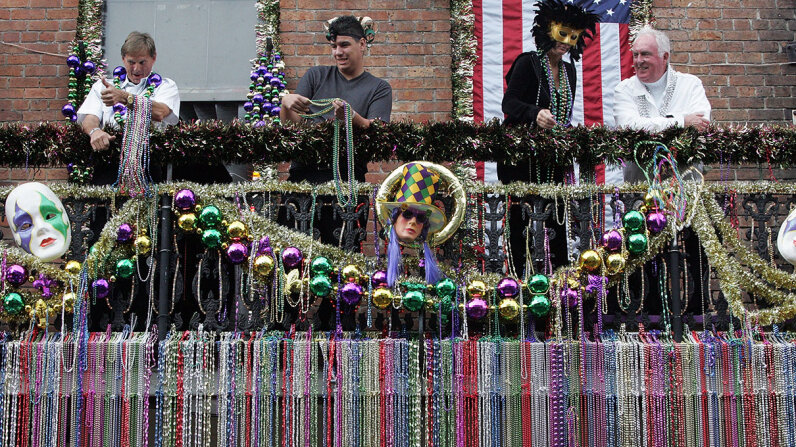 Mardi Gras beads clogged drains NOLA