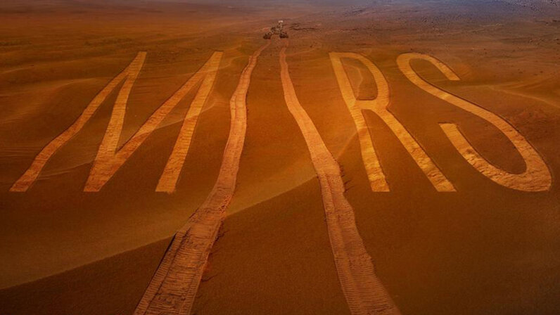 Mars spelled out