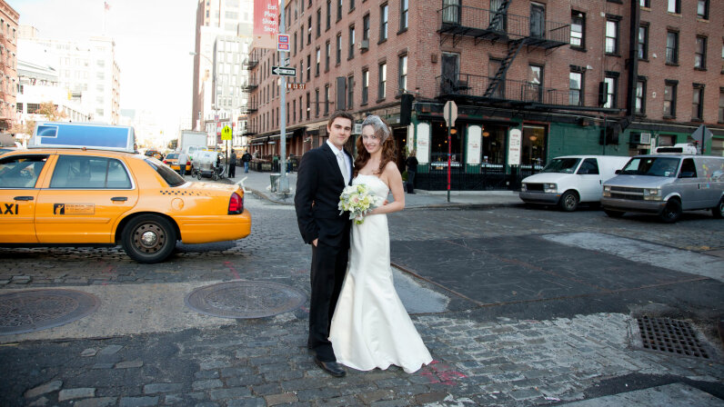 Weddings have been getting a lot smaller these days but not only to save on money. Kristine Foley/Getty Images
