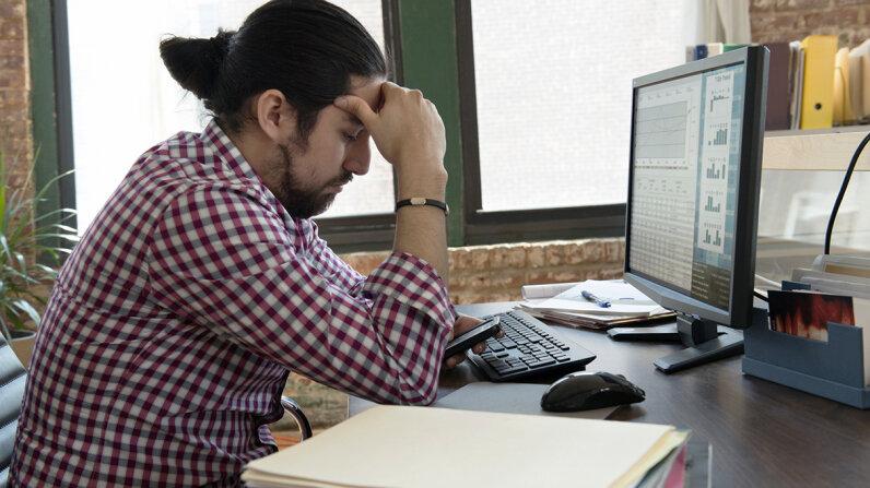 overworked millennial