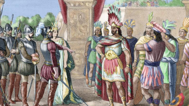 Montezuma II , Hernan Cortes