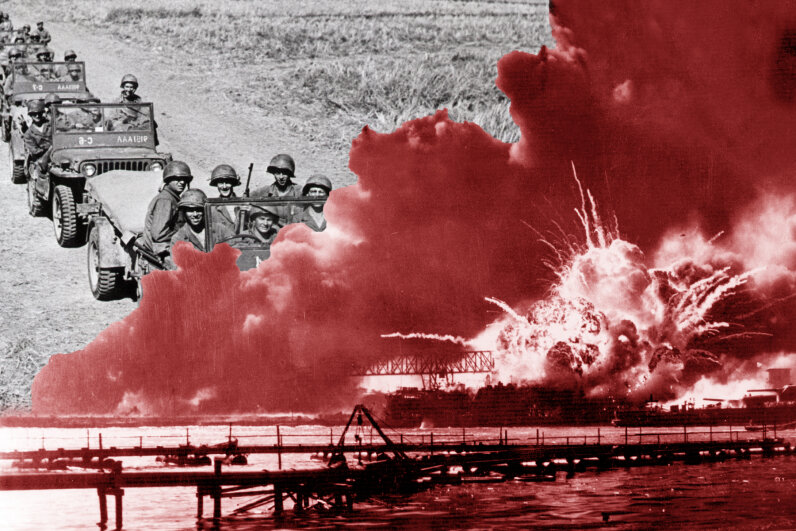 Thousands of people died in the Pearl Harbor attack, which rendered the Japanese attack on Manila the next day (with 100 people killed) much less memorable. Bettmann/Keystone/Getty Images