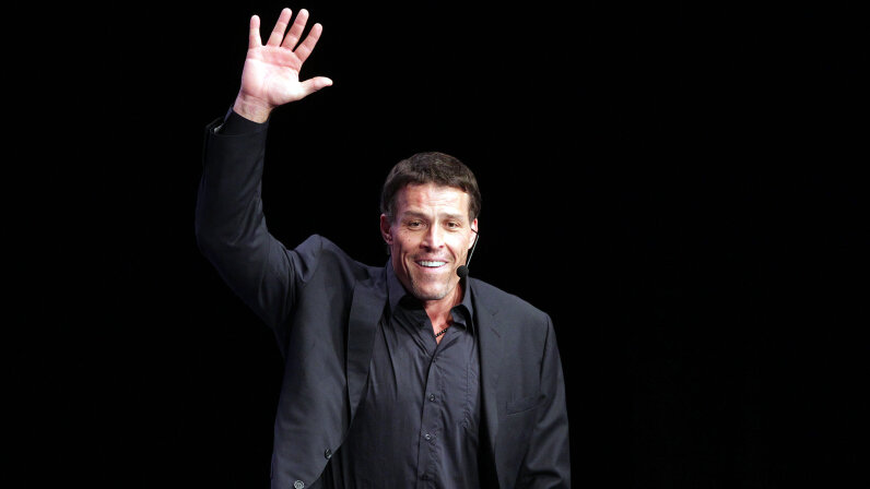 Tony Robbins is perhaps the most well-known motivational speaker in the world, and has worked with celebrities from Oprah Winfrey to Bill Clinton. Frederick M. Brown/Getty Images