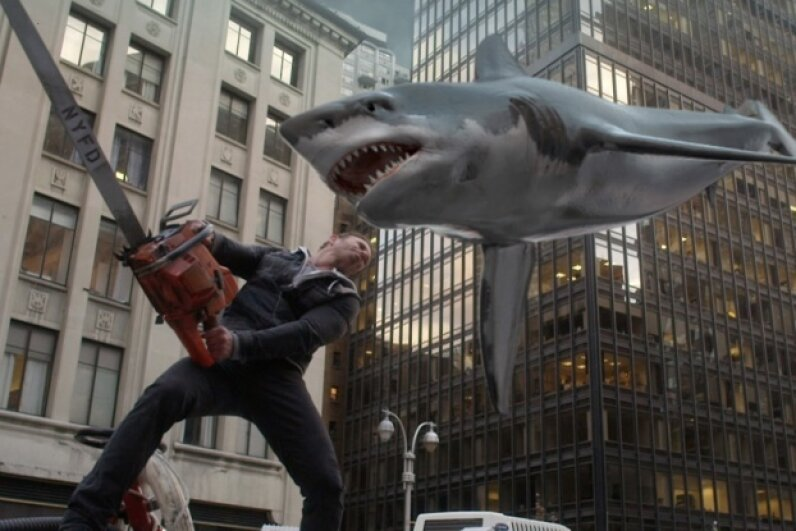 "The plus side of the ""Sharknado"" series of films is that it's campy — it really isn't trying to pretend that there's any sort of actual science in the mix. ©Syfy/NBCU Photo Bank via Getty Images"