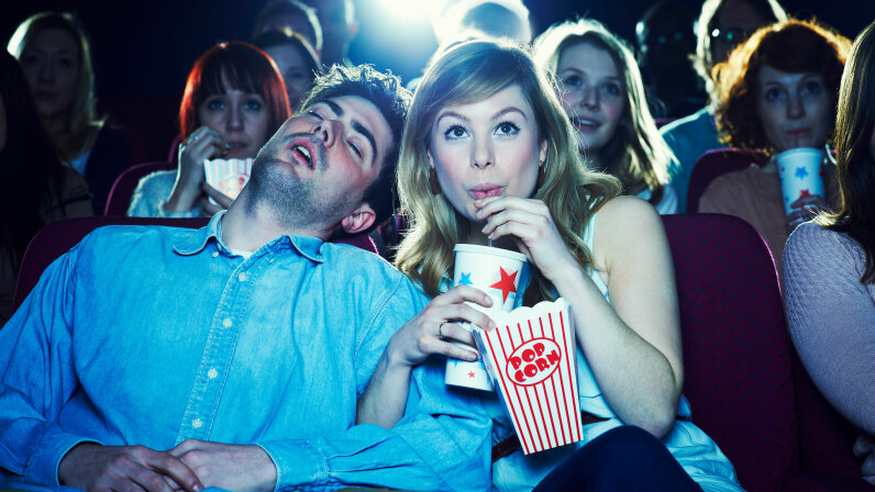 If you can fall asleep in any movie, is that a sign of a sleeping disorder? Flashpop/Getty Images
