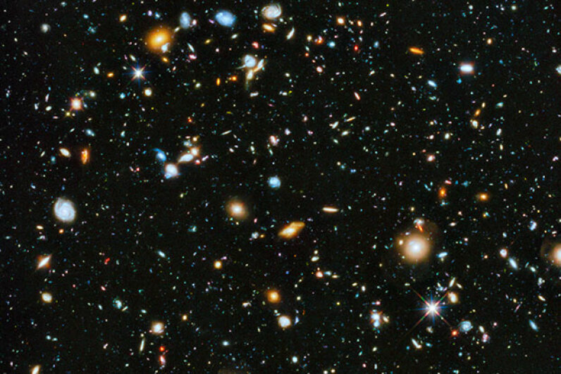 This parallel field observation from the NASA/ESA Hubble space telescope reveals thousands of colorful galaxies swimming in the inky blackness of space. Given the universe's scale, who's to say there isn't a parallel reality? NASA, ESA and the HST Frontier Fields team (STScI), Acknowledgement: Judy Schmidt