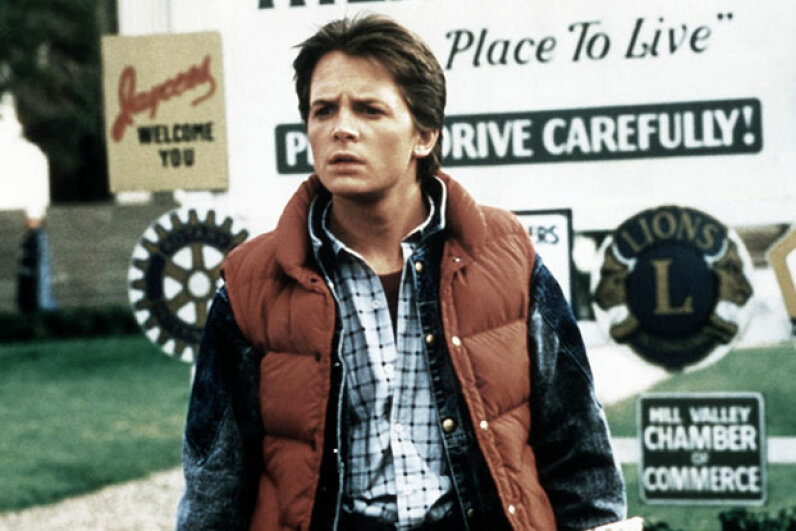 """Marty McFly (played by Michael J. Fox) had to worry about screwing up history in """"Back to the Future."""" But a multiverse would prevent that problem. Herbert Dorfman/Corbis via Getty Images"""