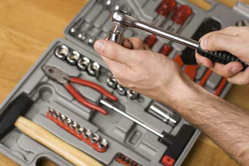 What tools should a well-stocked tool box have? See more home construction pictures. iStockphoto/Thinkstock