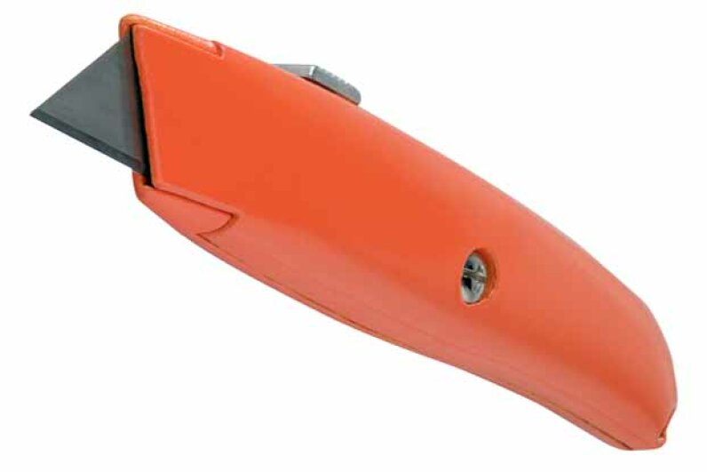 A utility knife can break down cardboard boxes, trim carpet, cut drywall, and do a hundred other things. Brand X Pictures/Thinkstock