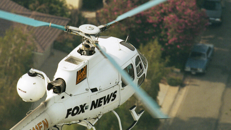 For decades, news organizations have used helicopters to gather information and report live from in the sky. Could drones replace news choppers? Steven D. Starr/Corbis/Getty Images