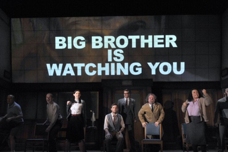 Yeah, Orwell, you warned us. © Robbie Jack/Robbie Jack/Corbis