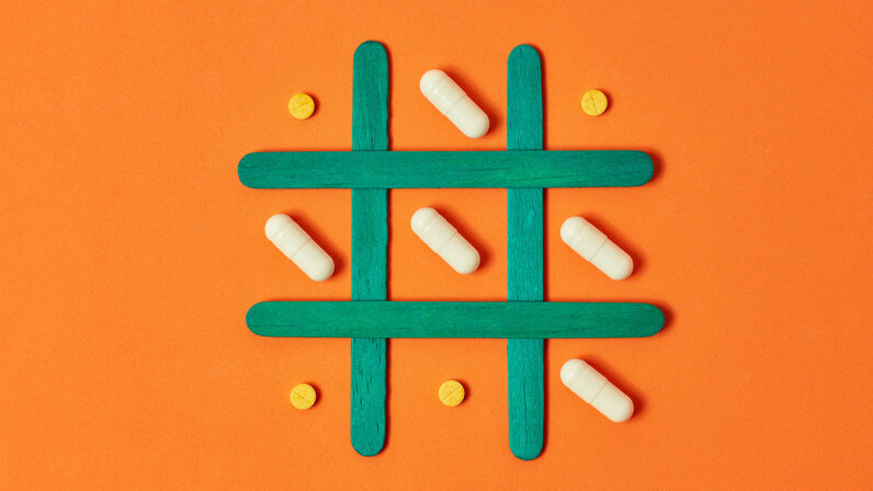 pills on a grid