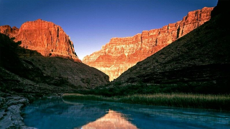 The sun sets over Little Colorado River at Grand Canyon National Park, Arizona. Kerrick James/Getty Images