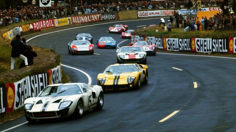 ford, ford gt40, 1966 le mans race