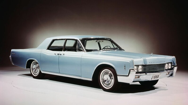 """The '66 Lincoln Continental sedan definitely qualifies as a """"land yacht."""" Bettmann/Getty Images"""
