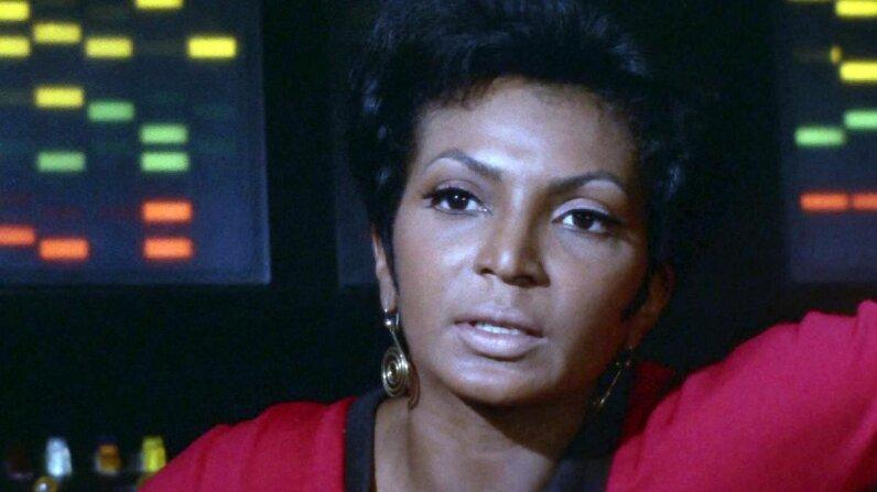 Nichelle Nichols as Lt. Uhura in the 'Star Trek' episode 'Spock's Brain.' CBS via Getty Images