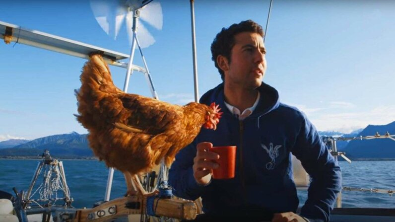 Sailing Solo Around the World  with a Pet Chicken Great Big Story/YouTube