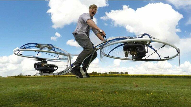 Bike to the Future - Drone Bicycle SkyNews