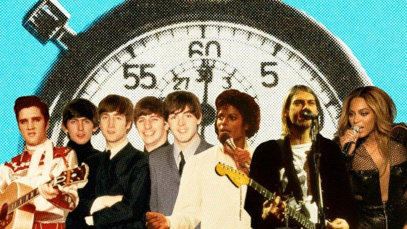 No matter the decade, the three-minute song has always ruled. ChadBatka/MichaelOchs/KevinMazur/NealPreston/Corbis/GettyImages