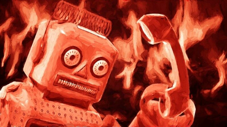 A computer robot is analyzing calls from angry customers so companies can make changes in their customer service procedures. JosefKubes/Brian A Jackson/Thinkstock