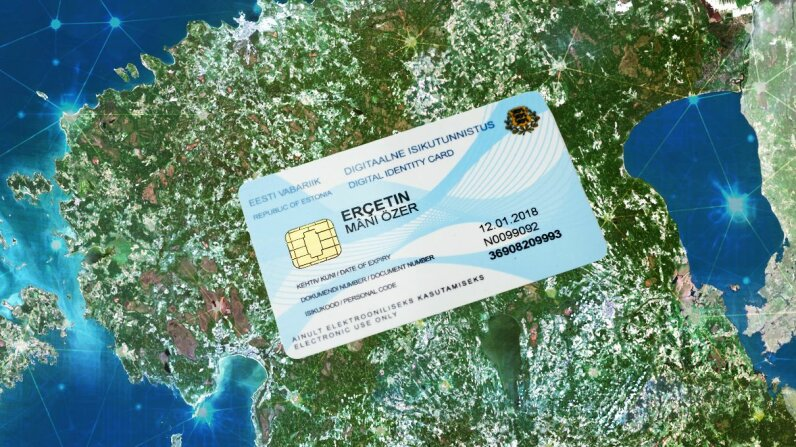 People who apply for and are granted e-Residency in Estonia would receive a card that looks a lot like this. Post-Brexit, the number of British people applying for Estonian e-Residency has soared. Martin Dremljuga/Planet Observer/Getty Images