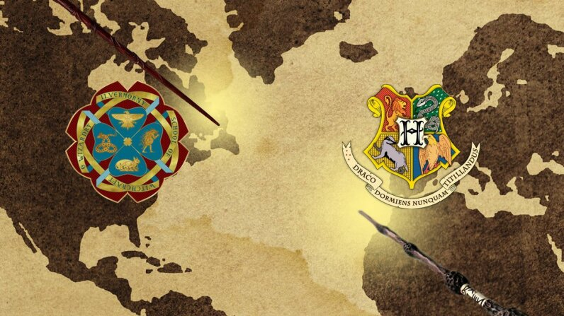 Illustration with wizarding maps