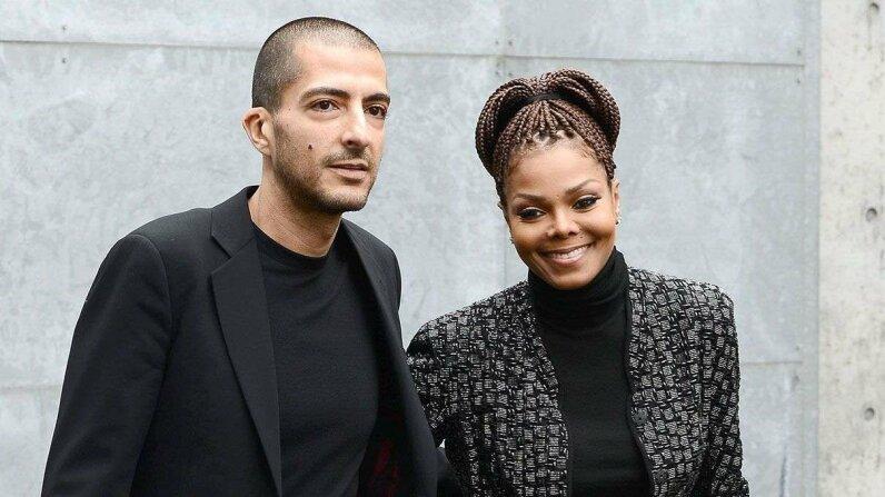 Janet Jackson and husband Wissam al Mana attend the Giorgio Armani fashion show in 2013. Venturelli/WireImage/Getty Images