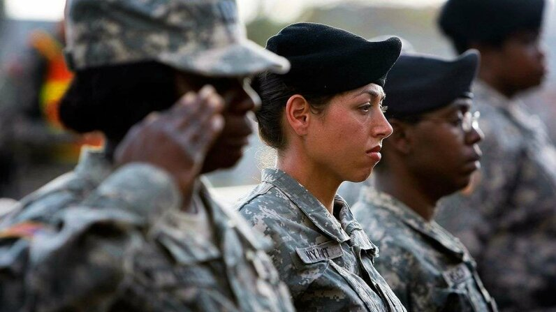 Two Republican lawmakers have introduced a bill about women and the draft in order to spur conversation. Joe Raedle/Getty Images