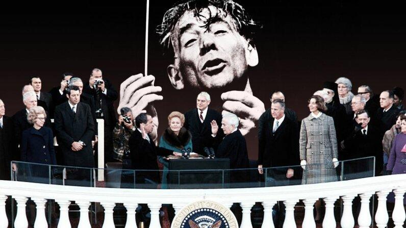"Composer Leonard Bernstein used a performance the night before Richard Nixon's inauguration as an ""anti-inaugural."" Corbis/Horowitz/Ullstein Bild/Getty Image"