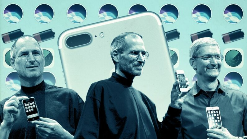 iPhones have been with us for 10 years already. David Paul Morris/Justin Sullivan/AFP/Getty/Apple