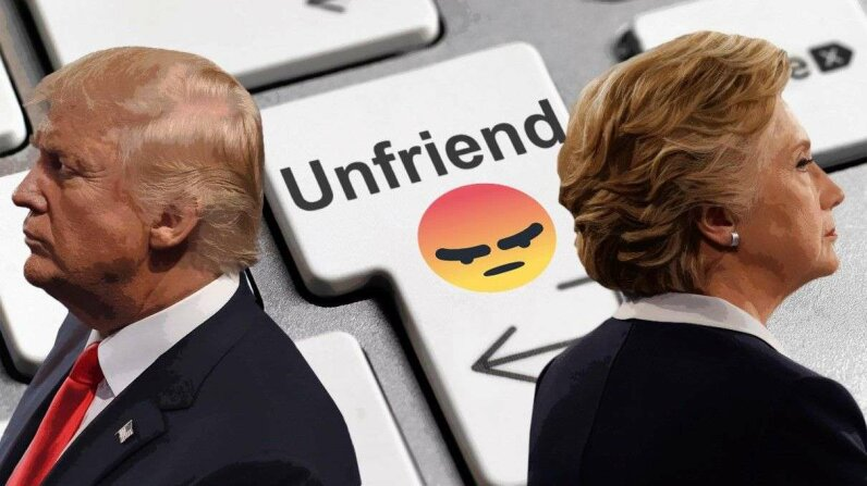 Has the rancor of the 2016 U.S. presidential campaign influenced social media relationships? Jim Bourg/AFP/PeterDazeley/Getty Images