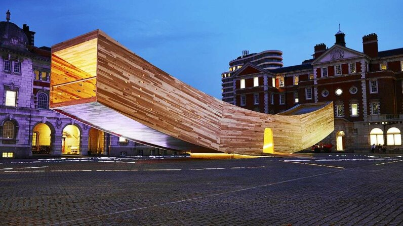 The Smile - construction process Alison Brooks Architects