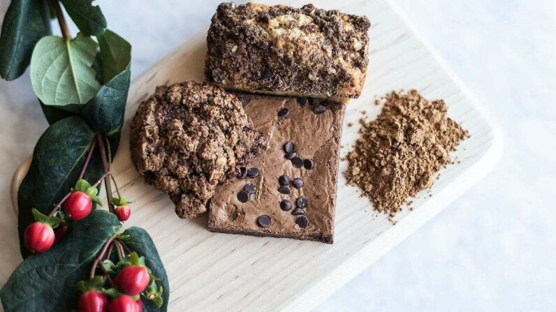Baked goods made using coffee flour look the same as those made with conventional flours, but they can have more complex flavor profiles. Photo by Ethan Covey