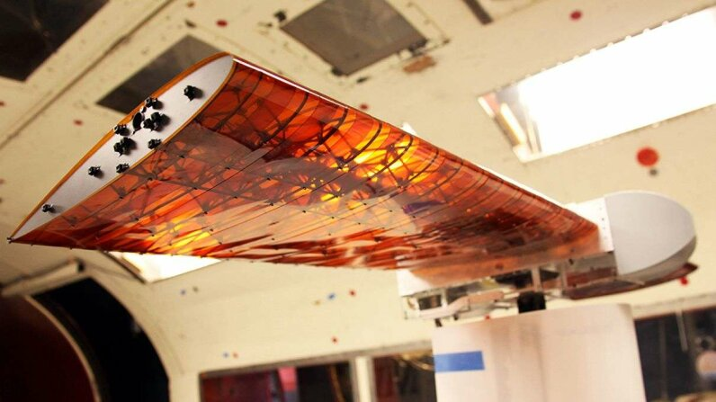 A newly developed wing architecture could greatly simplify the manufacturing process and reduce fuel consumption by improving the wings aerodynamics. Kenneth Cheung/NASA