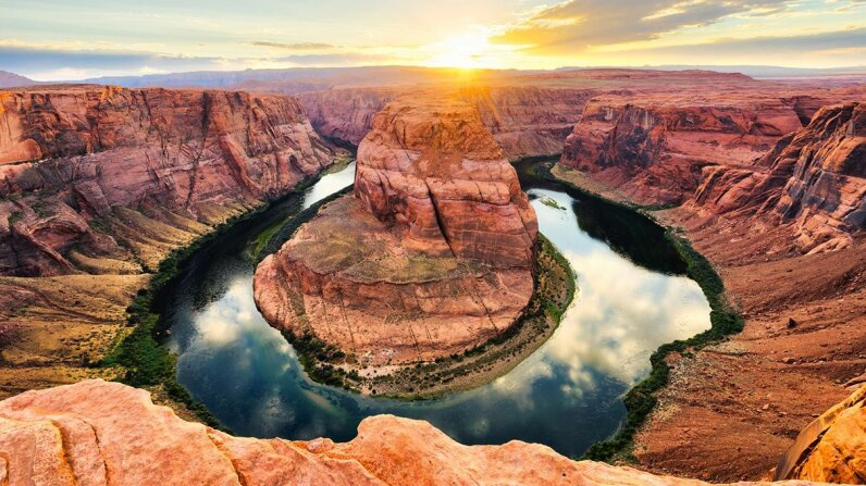 The Colorado River makes its way through the iconic Horseshoe Bend in Arizona. Filippo Bacci/Getty Images