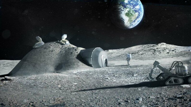 The European Space Agency hopes to set up moon bases, like these proposed by Foster + Partners in 2013, in 15 to 20 years. ESA/Foster + Partners