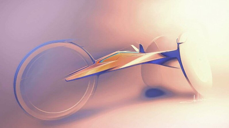 An artist's rendering of the new racing wheelchair BMW is developing for athletes on the U.S. Paralympics Track & Field Team in the Rio 2016 Paralympic Games. PRNewsFoto/BMW of North America, LLC