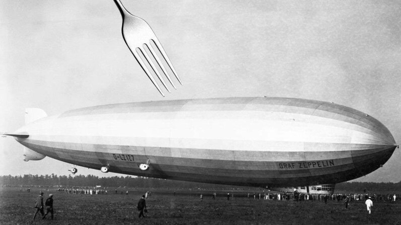 The German-made Graf Zeppelin was named after the father of these massive balloons, Ferdinand Zeppelin (watch the video below for more info on him).  Hulton-Deutsch Collection/Corbis