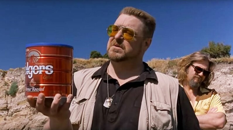 "Characters in the 1998 film ""The Big Lebowski"" prepare to scatter the ashes of a deceased friend in a California state park. The film makes no mention of whether they acquired a permit to do so. Working Title/Polygram/Movieclips"