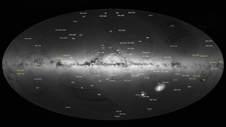 The ESA Gaia satellite observatory charted more than 1.1 billion of the Milky Way's 100 billion stars. ESA/Gaia/DPAC