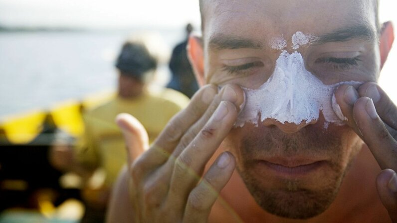 The ideal, recommended application of sunscreen every few hours butts up against the reality of how and when people actually use it. Aaron Black/Getty Images