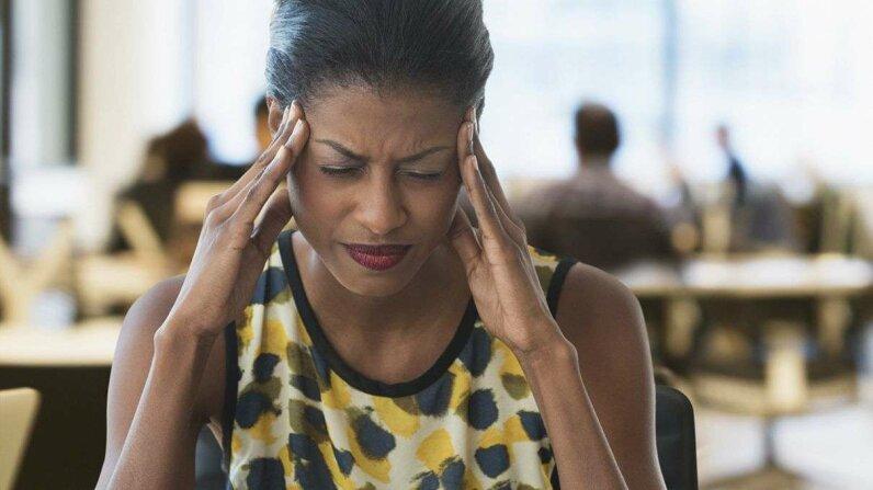 A new study examines the link between estrogen levels, menstruation and migraine. Jose Luis Pelaez Inc/Getty Images