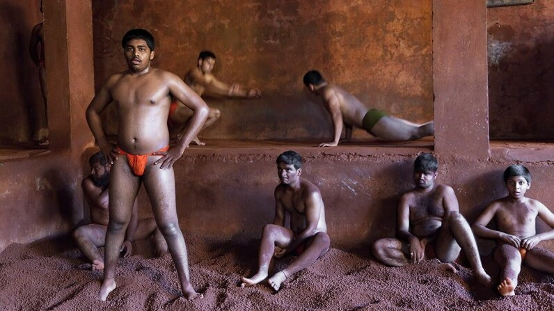 Kushti is an ancient form of wrestling popular in India, Bangladesh and Pakistan. Peter Adams/Getty Images