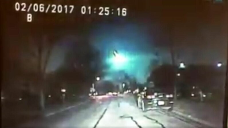 Meteor Spotted over the Midwest Carousel image: Screenshot from Lisle, Illinois, police video; Video: CNN