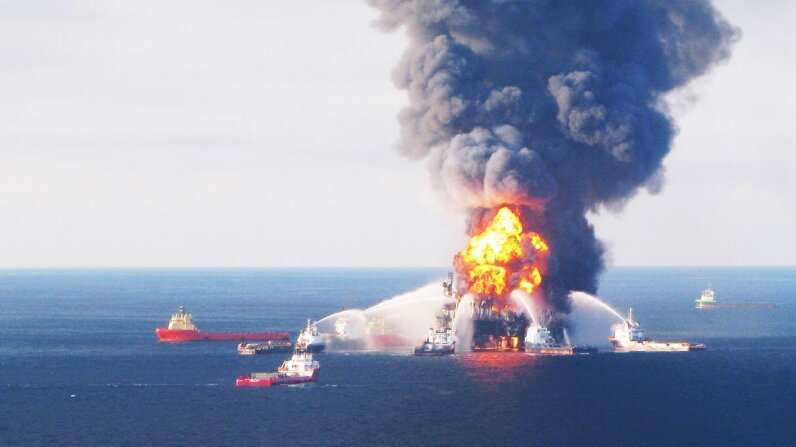 The Deepwater Horizon oil rig disaster in 2010 is considered the worst man-made ecological disaster of all time. U.S. Coast Guard