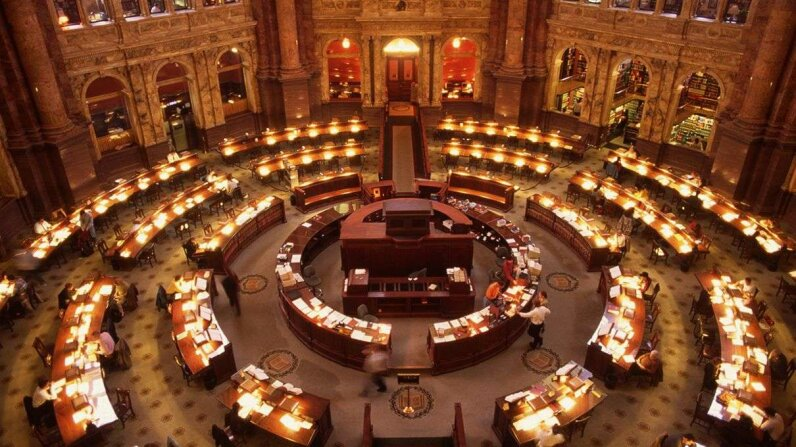 A 1995 view of the main reading room at the Library of Congress. The library could finally be getting a new librarian following James Billington's retirement in September 2015.  Kelly/Mooney Photography/Kelly-Mooney Photography/Corbis