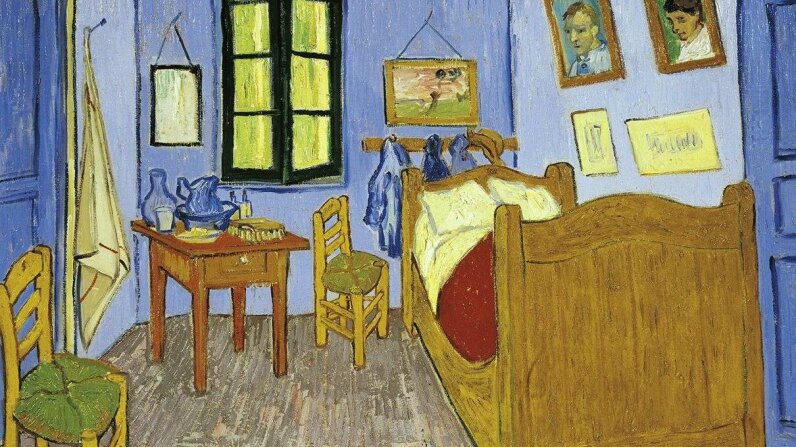 """Pictured above is """"Van Gogh's Bedroom in Arles."""" It's one of a trio that Van Gogh produced in 1888-1889. This one is preserved in the Musee d'Orsay in Paris. DEA/G. DAGLI ORTI/Getty Images"""