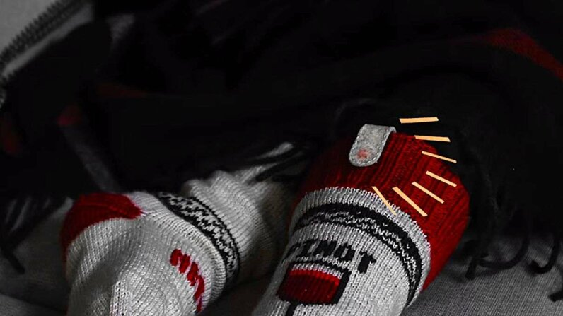 Those are some smart (and sassy) socks! YouTube screengrab