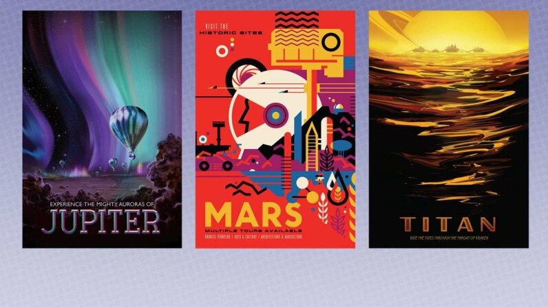 Visions of the Future posters from NASA/JPL
